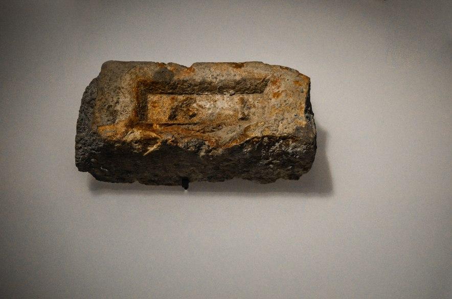 A brick from Osama Bin Laden's compound in Abottabad, Pakistan.